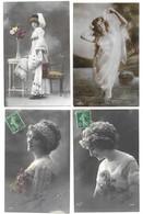 Fantaisies Gros Lot De 2000 CPA Femmes/Enfants/Couples/Fètes... - 500 Postcards Min.