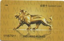 Carte De Membre Casino : MGM Golden Lion : Macau Macao - Cartes De Casino