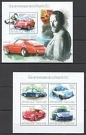 TG757 2013 TOGO TOGOLAISE TRANSPORT CARS 50TH ANNIVERSARY PORSCHE 911 KB+BL MNH - Voitures
