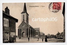 - CPA FRESNOY-FOLNY (76) - L'Église 1907 (avec Personnages) - Edition Dardenne - - Francia