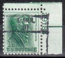 USA Precancel Vorausentwertung Preo, Locals New Jersey, Elmer 828, Plate# - Precancels