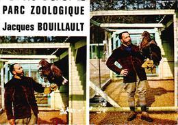 """Carte 1960 JACQUES BOUILLAULT : Parc Zoologique  - Aigle Pygarde """"colibri"""" - La Fleche"""