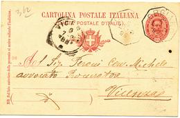 1899 ORGIANO VICENZA  OTTAGONALE DI COLLETTORIA RURALE - 1878-00 Umberto I