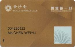 Carte De Membre Casino : Sands & Plaza & Venetian : Macau Macao - Cartes De Casino