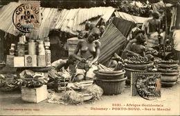 DAHOMEY - Carte Postale - Porto Novo - Sur Le Marché - L 53243 - Dahomey