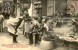 DAHOMEY - Carte Postale - Porto Novo - Marchands De Cola Et Autres Denrées Alimentaires - L 53245 - Dahomey