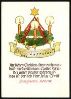 D3727 - Christine Holscher Glückwunschkarte Advent Weihnachten - Verlag Max Müller Karl Marx Stadt - Noël