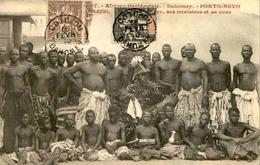 DAHOMEY - Carte Postale - Porto Novo - Adjiki Roi De Porto Novo Et Ses Ministres - L 53248 - Dahomey