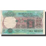 Billet, Inde, 5 Rupees, KM:80h, TB - Inde