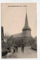 - CPA SAINT-AUBIN-EN-BRAY (60) - L'Eglise 1916 (avec Personnages) - Edition Duchaussoy-Majal - - Francia