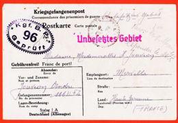 Tues046 STABLACK Stalag I-A Kriegsgefangenenpost Kgf.B.P. 96 Geprüft Camp Prisonnier André JOUVION 04-04-1941 Merville - Poland
