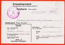 Tues047 STABLACK Stalag I-A 50 Kriegsgefangenenpost Geprüft Camp Prisonnier 16611-FZ André JOUVION 27-12-1940 Merville - War 1939-45