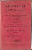 Livret-Statuts - La Fraternelle Du Pays D'Auge, Dives-sur-Mer (Calvados) Société Coopérative Production Et Consommation - Autres