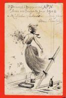Tues025 Rare Illustration Henri BOUTET Souhaits 1902 Président Honneur A.P.N à Victor LATEULERE 14 Rue Bayard Toulouse - Nieuwjaar