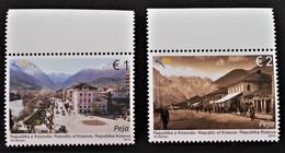 VILLE DE PEJA 2014 - NEUFS ** - YT 154/55 - MI 275/76 - HAUTS DE FEUILLES - Kosovo