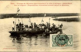 DAHOMEY - Carte Postale - Voyage Du Ministre Des Colonies Au Dahomey, Sur La Lagune - L 53259 - Dahomey