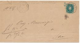 1891 FIESSE D'ARTICO  VENEZIA OTTAGONALE DI COLLETTORIA RURALE - 1878-00 Umberto I