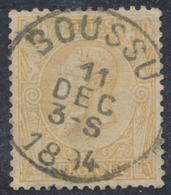"émission 1884 - N°50 Obl Simple Cercle ""Boussu"". Superbe ! - 1884-1891 Leopold II"