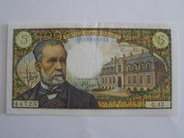 BILLET 5 F PASTEUR FAY 61/4 - 1962-1997 ''Francs''