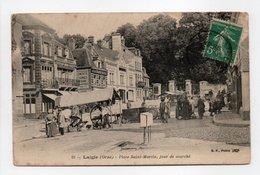 - CPA LAIGLE (61) - Place Saint-Martin, Jour De Marché (belle Animation) - Edition B. F. N° 25 - - L'Aigle