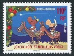 NOUV.-CALEDONIE 2014 - Yv. 1228 **   Faciale= 0,92 EUR - Noël. Guirlande Et Personnages à Cheval  ..Réf.NCE25729 - Unused Stamps