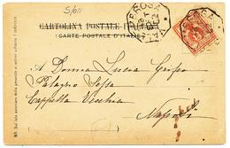 1902 VALLEOMBROSA FIRENZE  OTTAGONALE DI COLLETTORIA RURALE CARTOLINA HOTEL PARADISINO - 1900-44 Vittorio Emanuele III
