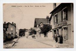 - CPA TORCY (77) - Rue De Paris 1917 - Bureau De Tabac (avec Personnages) - - Torcy