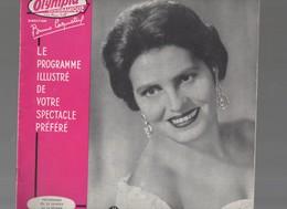 Programme L'OLYMPIA: AMALIA RODRIGUES/ RENE LOUIS LAFFORGUE (c.1957) ( FGF 021) - Programmes