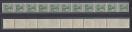 Dt. Reich 85a II  11er Streifen Germania 5 Pf Ungefaltet Postfrisch - Deutschland