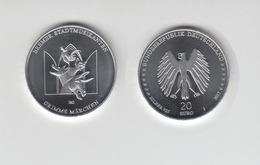 Silbermünze 20 Euro 2017 Grimms Märchen Bremer Stadtmusikanten Stempelglanz - Münzen