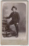 R29- 38) PHOTO CDV  VERS 1870  - LÉON à GRENOBLE - MILITAIRE DU 30° REGIMENT  CHASSEURS  ALPINS --2 SCANS - Grenoble