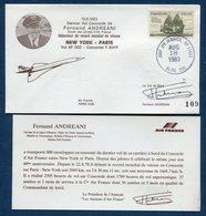 Dernier Vol - Concorde - Air France - New York - Paris - Signature Du Commandant - 1983 - Concorde