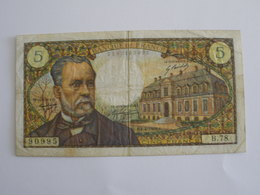 BILLET 5 F PASTEUR FAY 61/7 - 5 F 1966-1970 ''Pasteur''