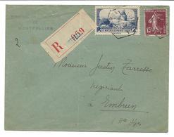 France YT 311 / LR Montpellier 16/02/36 Pour Embrun - 1921-1960: Periodo Moderno