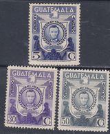 Guatemala PA N° 266 / 68 X : Sesquicentenaire De La Naissance D' Abraham Lincoln, Les 3 Vals Trace De Charnière Sinon TB - Guatemala