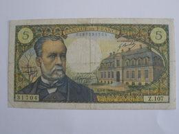 BILLET 5 F PASTEUR FAY 61/10 - 1962-1997 ''Francs''