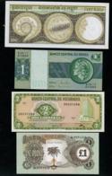 Lot De 4 Billets De Banque, Cambodge, Brésil, Nicaragua, Biafra ! - Billets