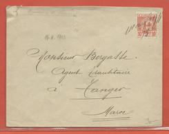 MAROC LETTRE DE 1913 POUR TANGER - Marokko (1891-1956)