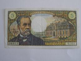 BILLET 5 F PASTEUR FAY 61/11 - 1962-1997 ''Francs''