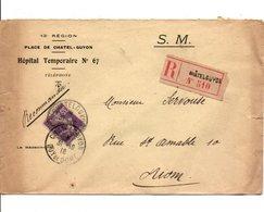 SEMEUSE SUR LETTRE A EN TETE DE CHATELGUYON PUY DE DOME 1916 - Marcofilia (sobres)
