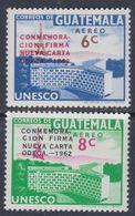 Guatemala PA N° 284 / 85 XX : Nouvelle Charte Des états D' Amérique Centrale, Les 2 Valeurs Sans Charnière, TB - Guatemala