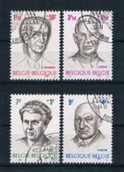 Belgien 1970 Persönlichkeiten Mi.Nr. 1613/16 Kpl. Satz Gestempelt - Usati