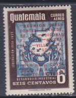 Guatemala PA N° 286 XX : Réunion Des Présidents, 6 C. Surchargé En Rouge Sans Charnière, TB - Guatemala