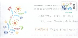 """Lettre  Prêt à Poster    """"  Avec Des Fleurs """"  Lettre Verte  Du 06 - 02 - 2020 - Postwaardestukken"""