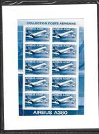 France 2006 Poste Aérienne N° F69a, Feuillet Sous Blister Clos, Airbus A380, à La Faciale - Poste Aérienne