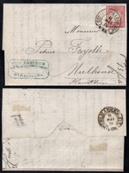 "D. R. - HUFEISEN STEMPEL ""STRASSBURG I ELS BHF"" - BAHNHOF /1874 BRIEF NACH  MULHAUSEN  (ref 8116) - Germany"