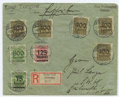 1923 Deutsches Reich R-Brief Fredersdorf Nach Berlin - Deutschland