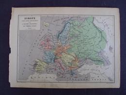 """FRANCE - Début  1900 Environ - Carte Du Monde Issue  D'un Album De Timbre """" EUROPE""""  En état - Net 2 Euros - Cartes Géographiques"""