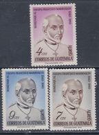 Guatemala PA N° 326 / 28 X : 4è Centenaire De Francisco Marroquin, Les 3 Valeurs Trace De Charnière Sinon TB - Guatemala