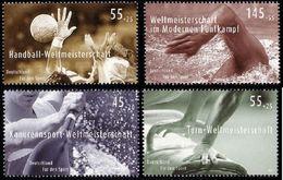 ALLEMAGNE ALEMANIA GERMANY DEUTSCHLAND BUND 2007 SPORTS SET 4V. MNH MI 2578+2585-87 YT 2407+2411-13 SC B984-87 - Ungebraucht